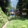 リフトに乗って高尾山を下山