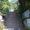 バス停からケーブルカー乗り場「大山ケーブル駅」へ
