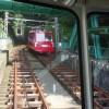 大山ケーブル駅から阿夫利神社駅に移動