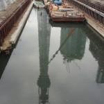 東京スカイツリーが見えやすい十間橋に移動