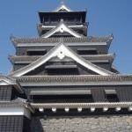 熊本城天守閣へ