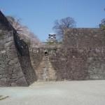 飯田丸五階櫓を見学後、熊本城から去る