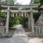 京都御苑の宗像神社、拾翠亭など