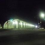夜の稚内駅周辺、稚内桟橋駅の防波堤の夜景など