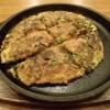 新幹線構内で「ねぎ焼きやまもと」でお好み焼きを食す