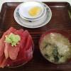 浅虫温泉鶴亀屋食堂でまぐろ丼を食す
