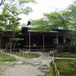 有楽苑の旧正伝院書院で抹茶