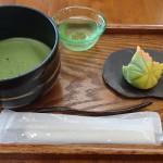松江歴史館 喫茶きはるで抹茶と上生菓子