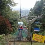 高尾山 リフトで山上駅から山麓駅へ