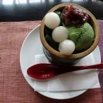 中村藤吉本店で濃茶、生茶ゼリーを食す