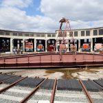 津山まなびの鉄道館、日本第2位の規模の扇形機関車庫