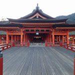 厳島神社、朝一番の参拝