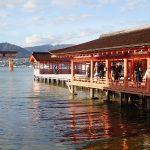 再び厳島神社へ、潮位が上がった状態
