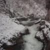 鷹泉閣 岩松旅館の露天風呂、室内風呂