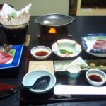 湯守田中屋の夕食は部屋食